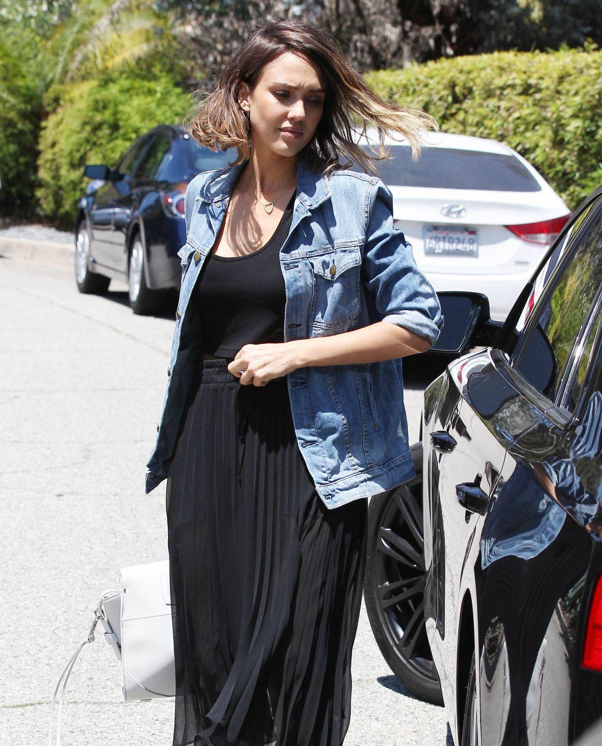 JESSICA ALBA Visits a Friend in Beverly Hills 06/14/2015