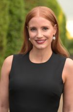 JESSICA CHASTAIN at Vogue and Ralph Lauren Wimbledon Party in London