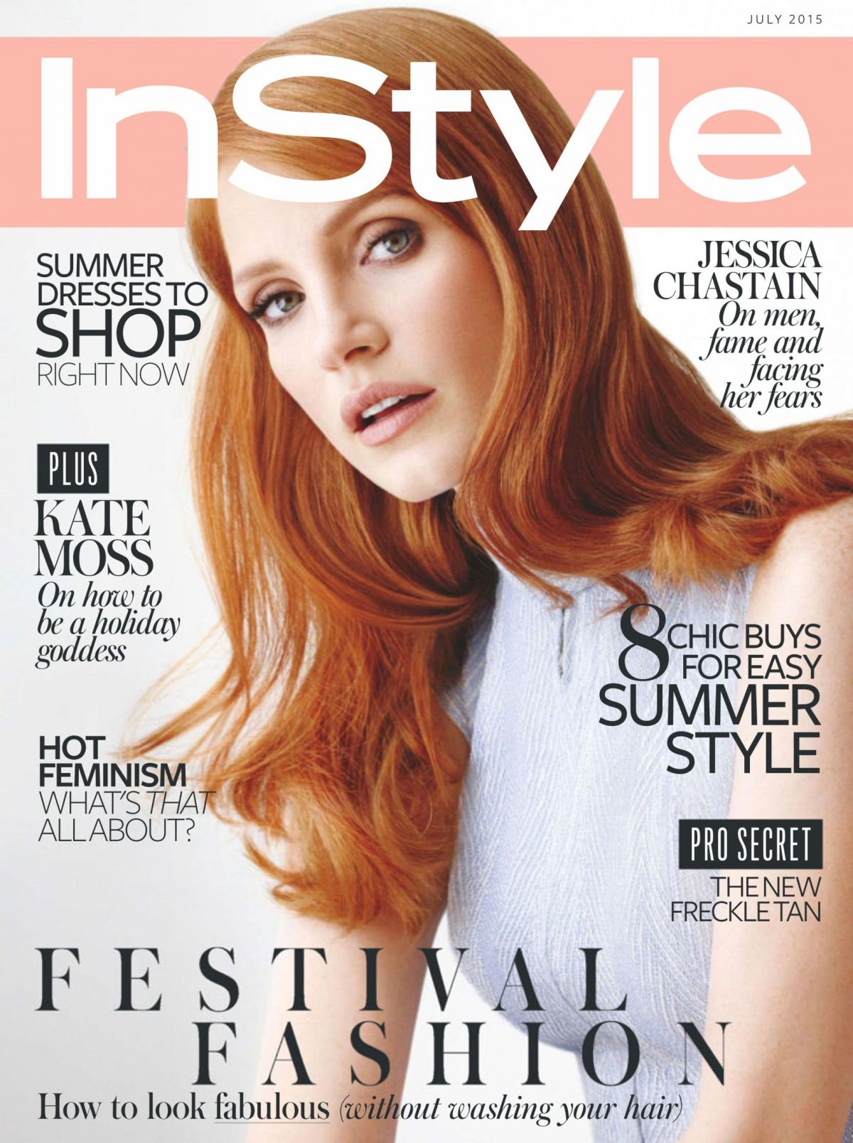 Jessica Chastain In Instyle Magazine July 2015 Issue Hawtcelebs