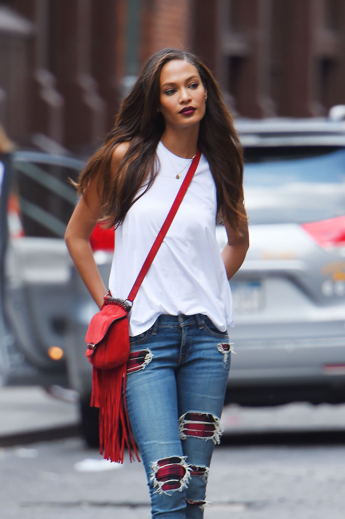 JOAN SMALLS at Impromptu Photoshoot in New York
