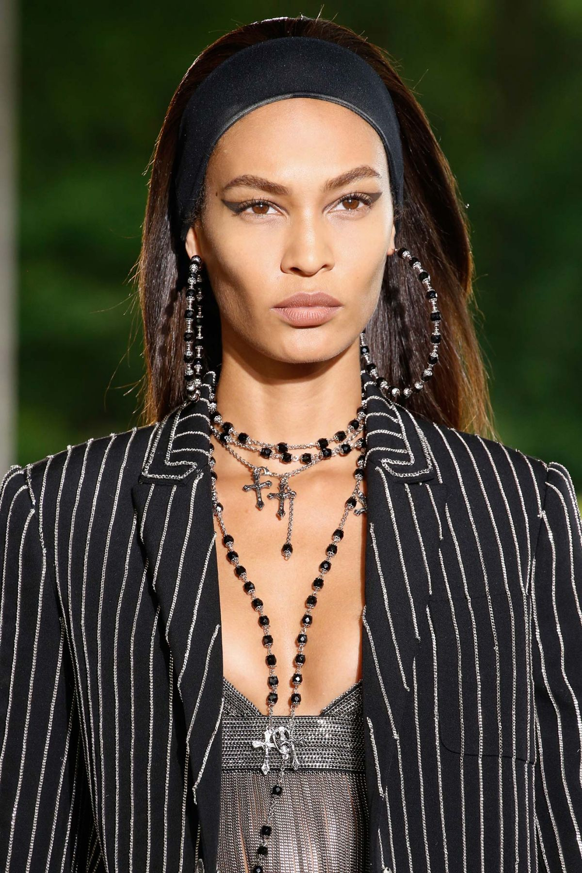JOAN SMALLS on the Runway of Givenchy Fashion Show in Paris