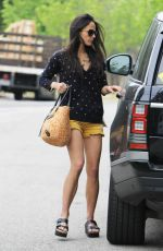 JORDANA BREWSTER in Shorts Out in Brentwood 06/10/2015