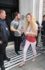 JOSS STONE Leaves BBC Radio 2 Studios in London 06/12/2015