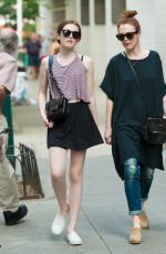 JULIANNE MOORE Out an About in New York 06/10/2015