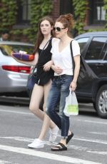 JULIANNE MOORE Out Shopping with Her Daughter in New York 06/19/2015