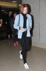 KAREN GILLAN at LAX Airport in Los Angeles 005/31/2015