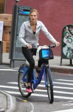 KARLIE KLOSS Out and About in New York 06/18/2015