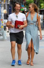 KARLIE KLOSS Out and About in New York 06/25/2015