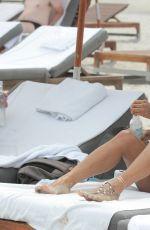 KARREUCHE TRAN in Swimsuit at a Beach in Miami 06/15/2015