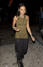 KARREUCHE TRAN Leaves 1oak Nightclub in West Hollywood 05/31/2015