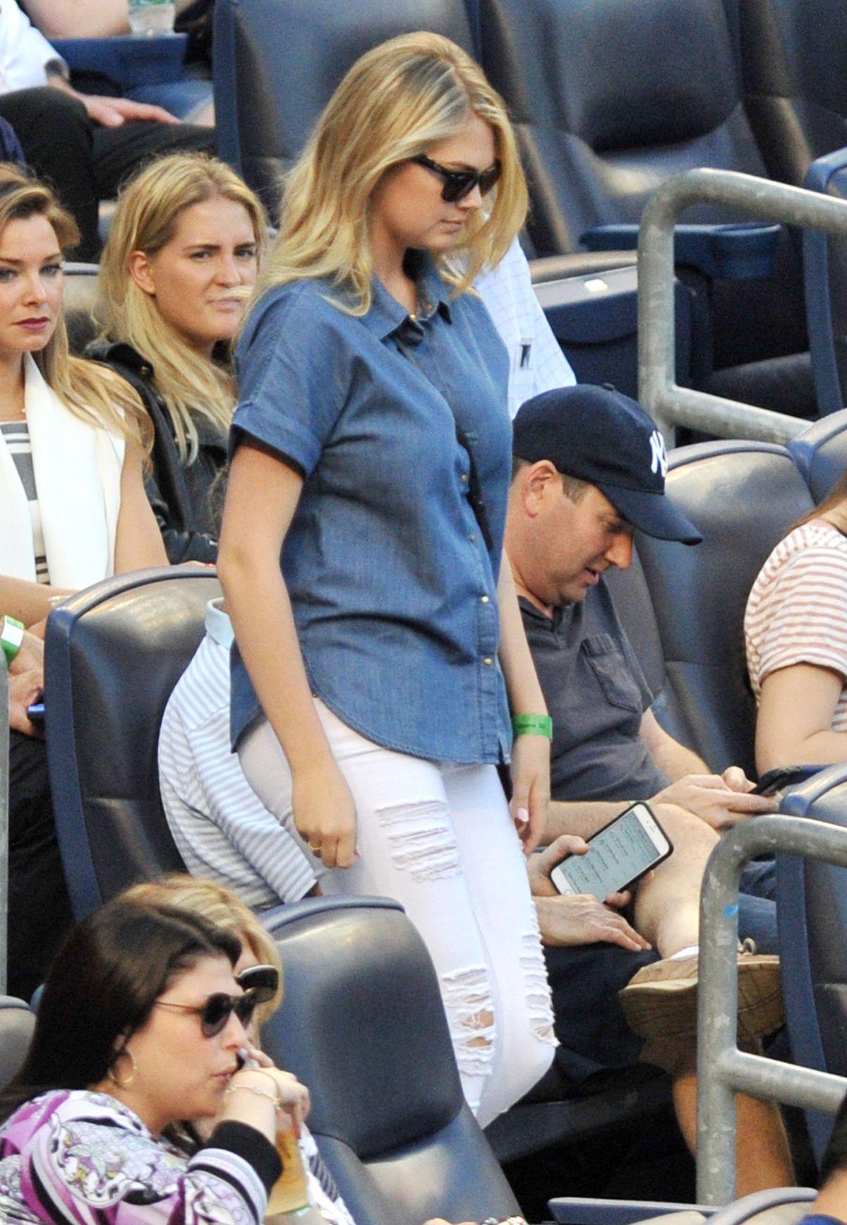KATE UPTON at New York Yankees vs. Detroit Tigers Game in New York 06/19/2015