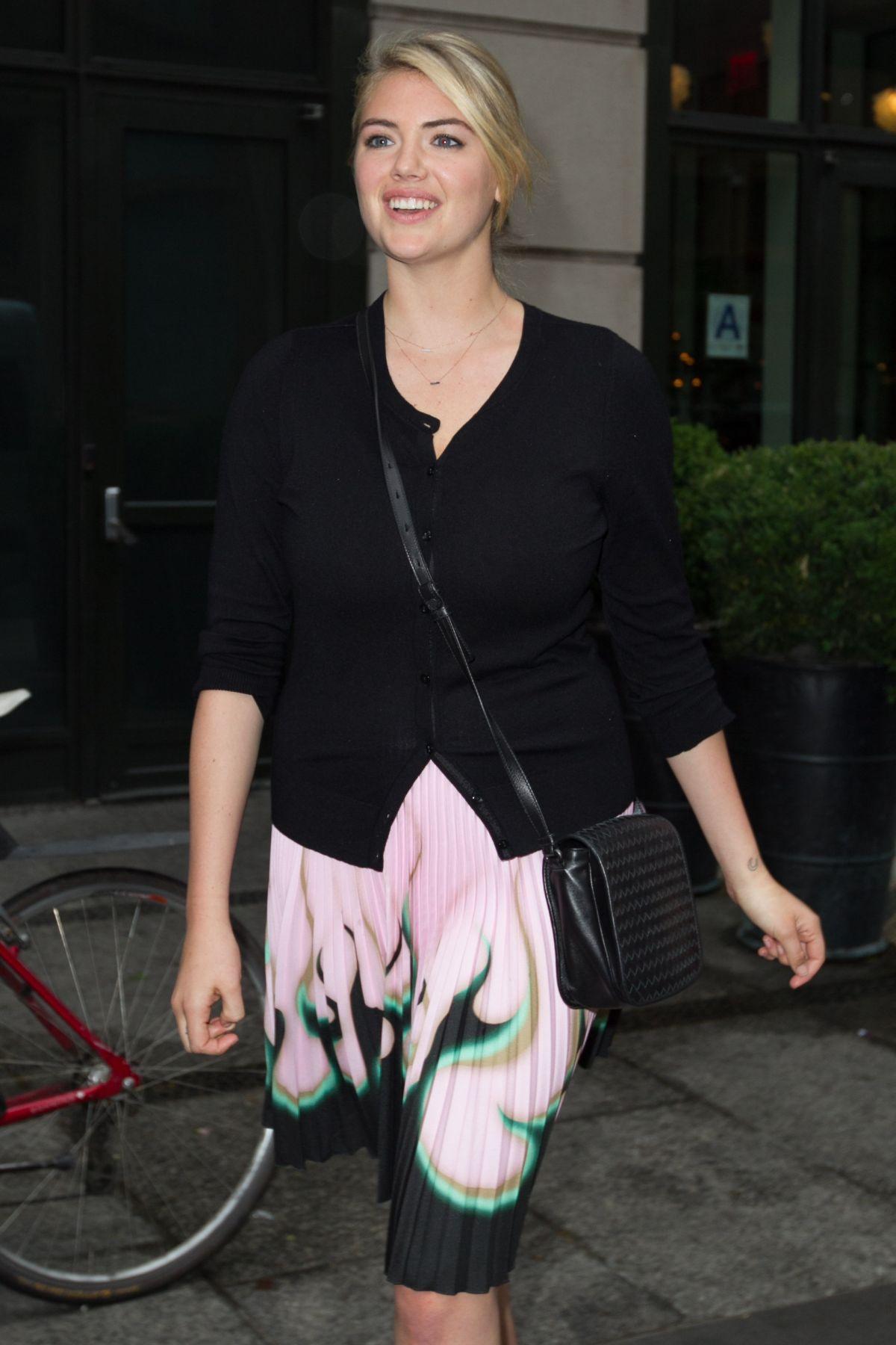 KATE UPTON Leaves Crosby Street Hotel in New York 06/01/2015