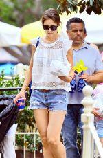 KATIE HOLMES in Cutoff Out at Disneyland in Anaheim 06/29/2015