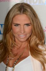 KATIE PRICE at Now Smart Girls Fake it Campaign with Superdrug Solait Launch Party in London