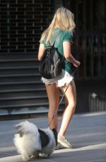 KATRINA BOWDEN Walks Her Dog Out in New York 06/22/2015