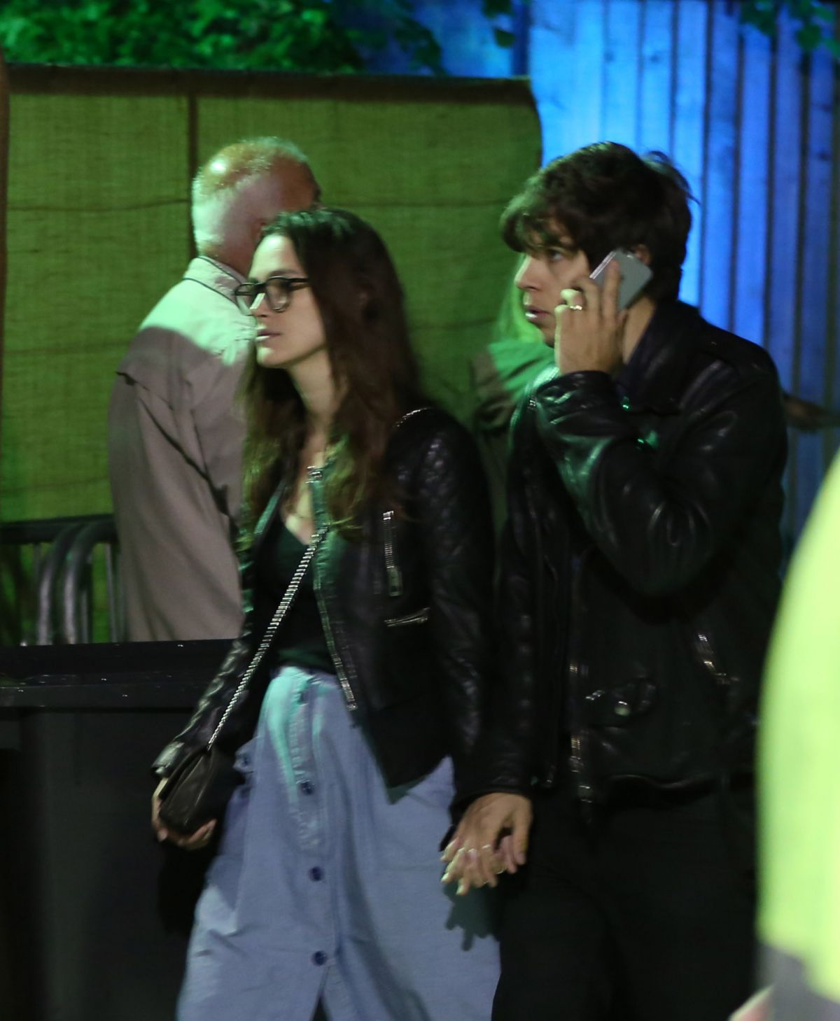 KEIRA KNIGHTLEY and James Righton at The Blur Concert at Hyde Park in London