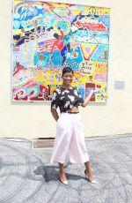 KEKE PALMER at P.S. Arts Jesse Owens Mural Unveiling in Inglewood