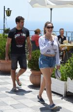 KELLY BROOK Out and About in Taormina 06/16/2015