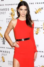 KENDALL JENNER at 2015 Fragrance Foundation Awards in New York