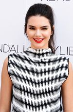 KENDALL JENNER at Kendall + Kylie Fashion Line at Topshop Launch Party in Los Angeles