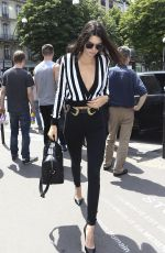 KENDALL JENNER Out and About in Paris 06/26/2015