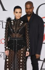 KIM KARDASHIAN at CFDA Fashion Awards 2015 in New York