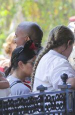 KIM KARDASHIAN at Disneyland for North West