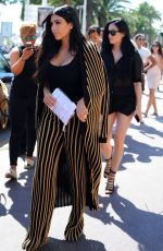 KIM KARDASHIAN Leaves Armani Caffe in Cannes 06/24/2015