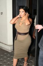 KIM KARDASHIAN Night Out in London 06/25/2015