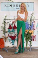 KIMBERLEY GARNER Promotes Her Swimwear Range in West London