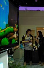 KIRA KOSARIN at 2015 E3 Gaming Convention in Los Angeles