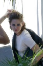 KRISTEN SYEWART on the Set of a Photoshoot in Los Angeles 06/24/2015