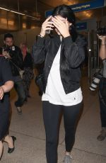 KYLIE JENNER Arrives at LAX Airport in Los Angeles 06/27/2015