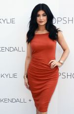KYLIE JENNER at Kendall + Kylie Fashion Line at Topshop Launch Party in Los Angeles