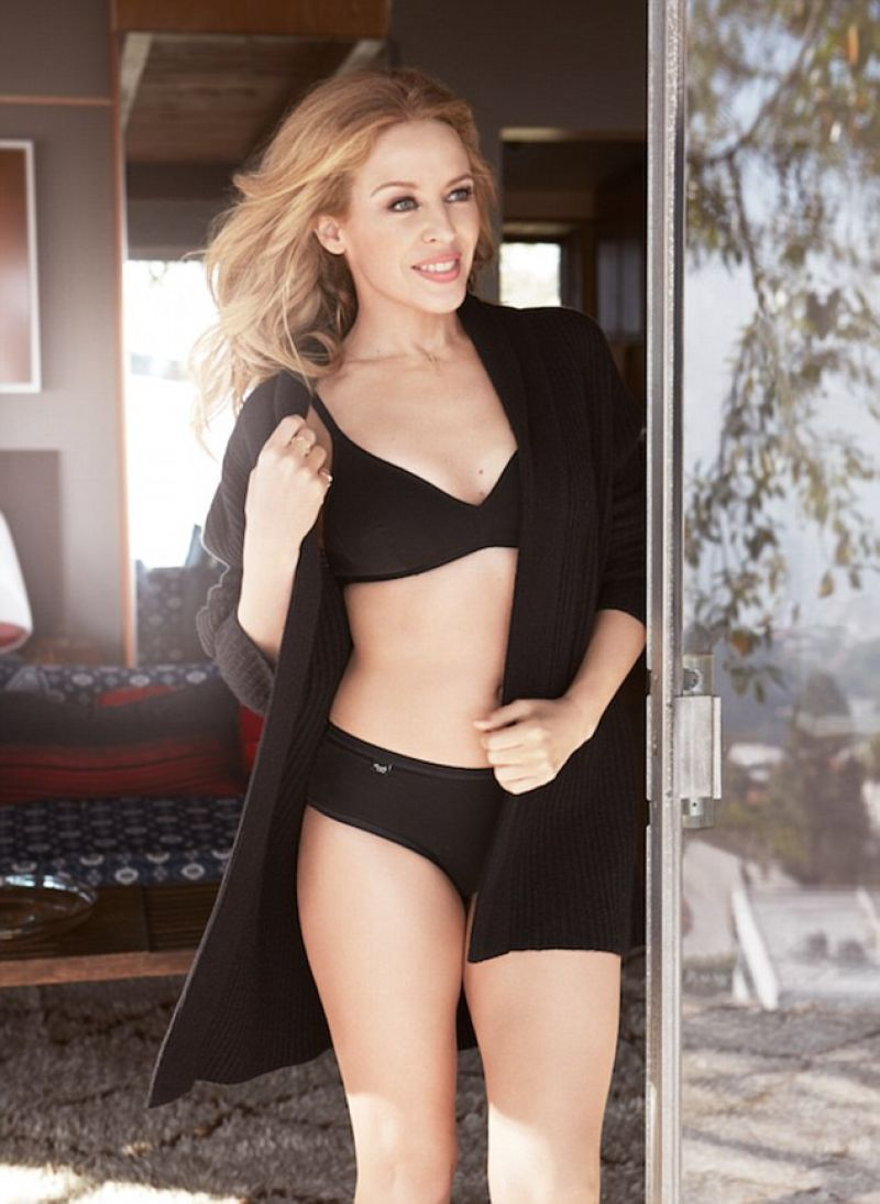 Kylie Minogue poses in skimpy underwear for new