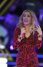 KYLIE MINOGUE Performs at Haydock Race Corse in Liverpool
