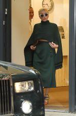 LADY GAGA Arrives at Bikram Yoga Centre in London 06/08/2015