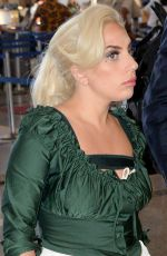 LADY GAGA Arrives at LAX Airport in Los Angeles 06/01/2015