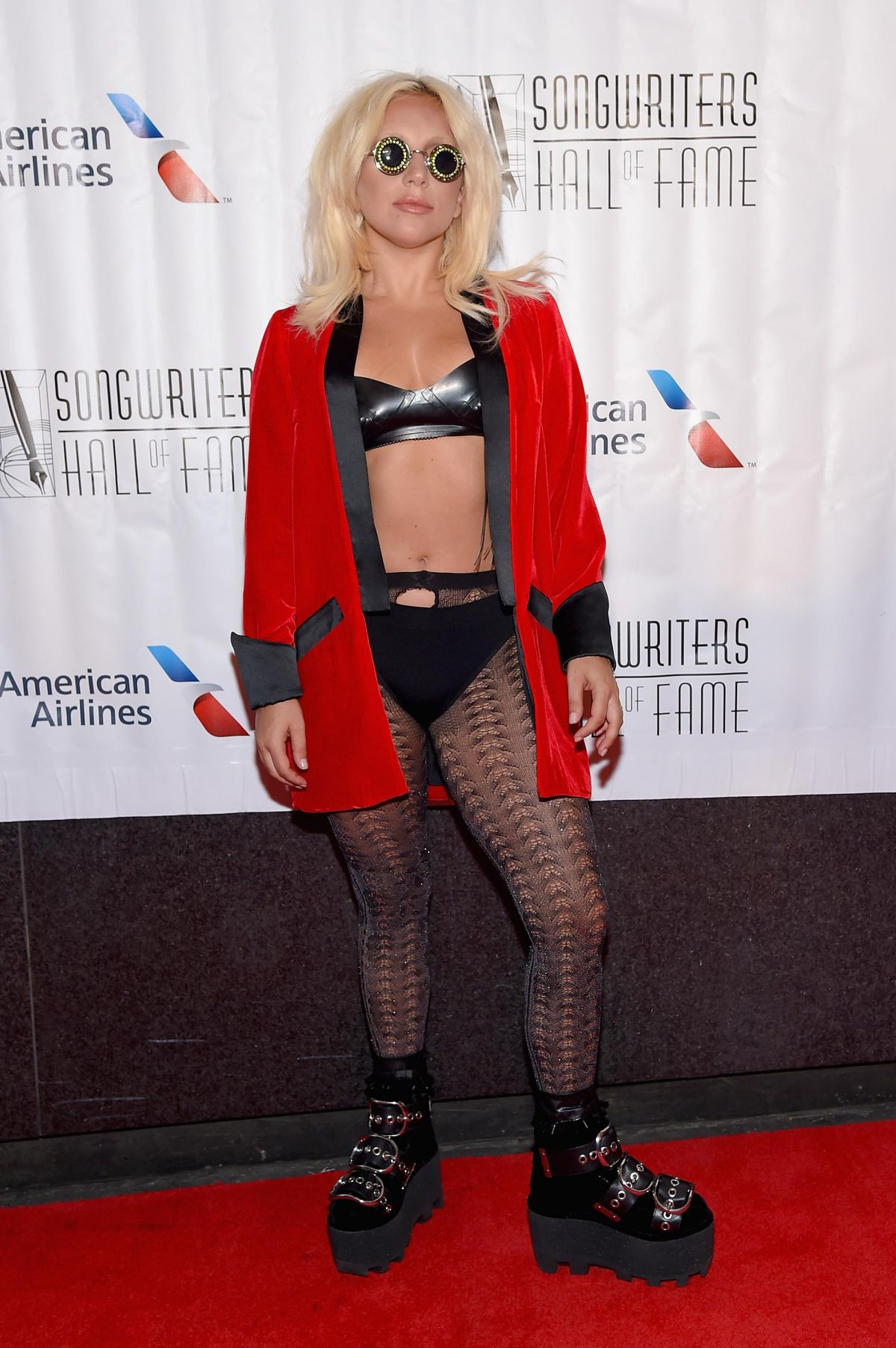 LADY GAGA at Songwriters Hall of Fame in New York