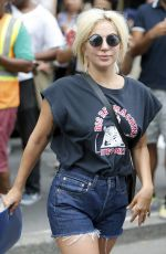 LADY GAGA Leaves Her Apartment in New York 06/23/2015