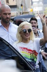 LADY GAGA Leaves Her Apartment in New York 06/26/2015
