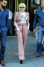 LADY GAGA Leves Her Apartment in New York 06/25/2015