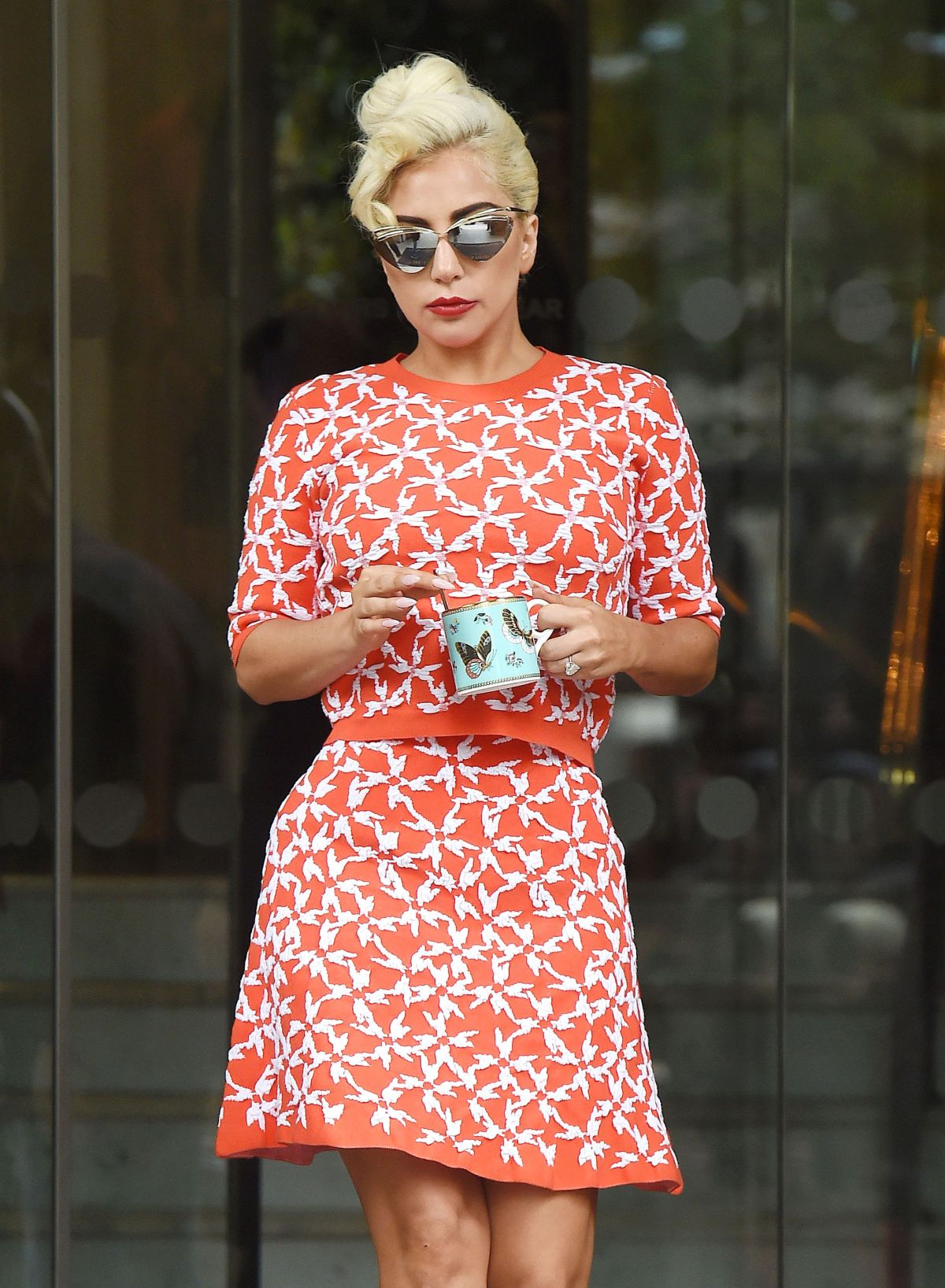LADY GAGA Out and About in London 06/09/2015