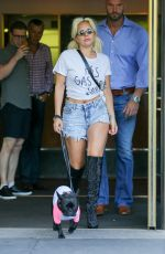 LADY GAGA Walks Her Dog Out in New York 06/22/2015