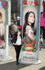 LAURA PREPON at Times Square in New York 06/10/2015