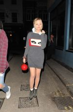 LAURA WHITMORE Arrives at the Groucho Club in London 06/03/2015
