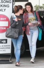 LEA MICHELE Leaves a Studio in Hollywood 06/09/2015