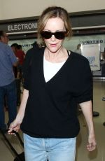 LESLIE MANN at LAX Airport in Los Angeles 06/12/2015