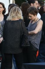 LILY COLLINS Arrives at U2 Concert in Inglewood