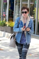 LILY COLLINS Leaves a Gym in West Hollywood 06/08/2015